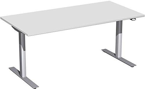Preisvergleich Produktbild Geramöbel elektrisch höhenverstellbarer Schreibtisch 1600x800x680-1160,  Lichtgrau