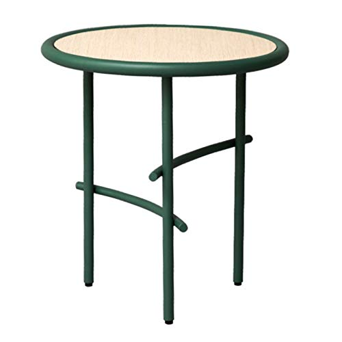 NYKK End Tables Home Living Room Bedroom Side Table Round Outdoor End Table Modern Line Art Coffee Table Perfect for Small Space End Table Nightstand Set (Color : Green)