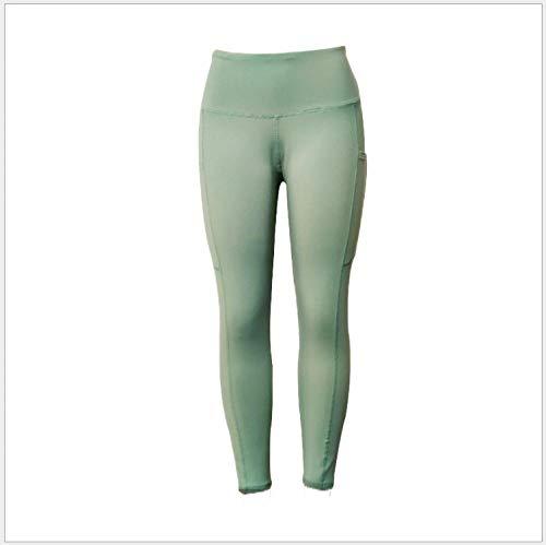 Vitila Damen Dehnbar Yogahosen Baumwolle Yoga Leggings Sporthose Grün Yogahosen Sport Leggins für Frauen Arbeitshose mit hoher Taille Bauchkontrolle, Lange Bootleg Flare Pant