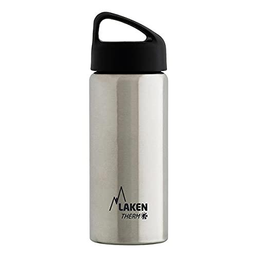 Oferta de Laken Classic Botella Térmica Acero Inoxidable 18/8, Aislamiento de Vacío con Doble Pared y Boca Ancha, Plateado, 750 ml