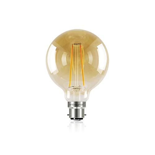 Bombilla LED de luz vintage con colores de la puesta del sol, de Integral, tipo B22, transparente, 80 mm (globo 80), 2,5 W (40 W), K 170 lm_P, vidrio metal, transparente, B22, 2.5W