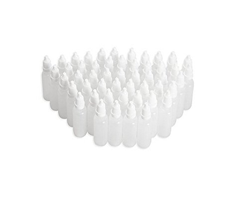 erioctry 5ML 50pcs Empty Plastic Dropper Bottle/Dropping Bottles(Drops of Plug Can Removable) Plastic Bottle Eye Liquid Dropper Refillable Containers