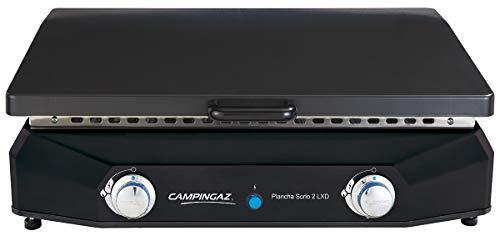 Campingaz PLANCHA GAZ A POSER SORIO 2 LXD - 2400 cm² - Plaque fonte émaillée - Couvercle acier charnière