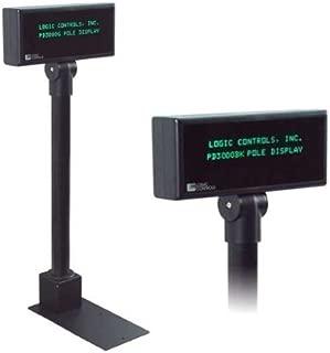 Logic Controls 2X20 RS232 Black P/DPLAY,AUTO Scrolling (113593A)
