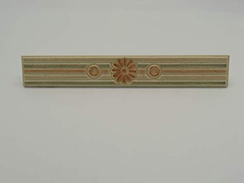 Listello Decoro Rivestimento Bagno Ceramica Monica Art. 31031 - Cm 5 x 33 Spessore Mm 7 - Made in Italy - N° 3 Pezzi