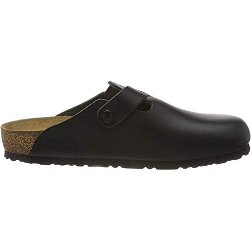 Birkenstock Boston 60413, Zoccoli unisex adulto, Nero (Black Leather), 39 (stretta)