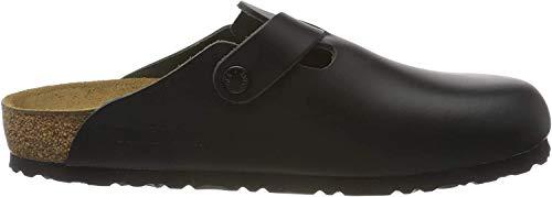 Birkenstock Boston, Unisex - Erwachsene Clogs, Schwarz (Black Nubuck Leather), 43 EU