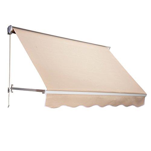 Outsunny Tenda da Sole Avvolgibile a Caduta Impermeabile Esterno Tessuto di Poliestere 180 × 70cm