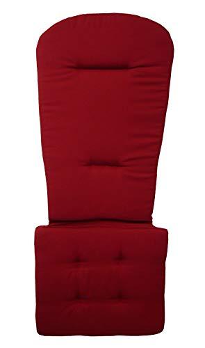 Original Dream-Chairs since 2007 Adirondack Chair Sitzauflage in DREI attraktiven Farben (Rot)
