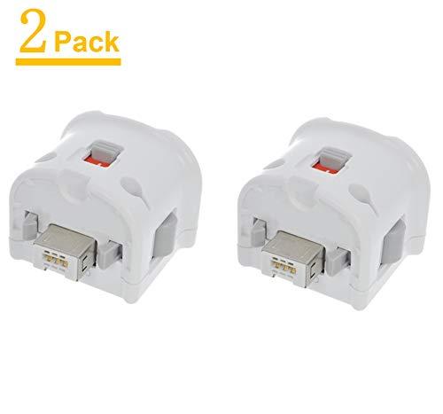TechKen Wii Motion Plus Adapter, externer Bewegungssensor, Beschleuniger für Wii-Fernbedienung, 2 Stück