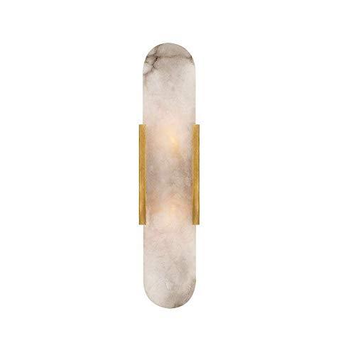 Modern Wall Light Metal Sconce Pantéramo de mármol Lámpara de Pared, LED cabecero Iluminación Lámparas nocturnas para Sala de Estar Dormitorio Dormitorio Pasillo de Noche Decorativo Cálido White Wall