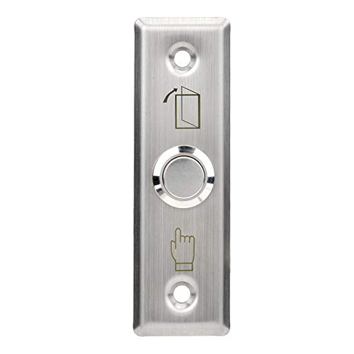 Entriegelungstaste aus Edelstahl zum Verriegeln der Tür, Türzugriffskontrollsystem Schalter Türentriegelung Aus Entriegelungstaste