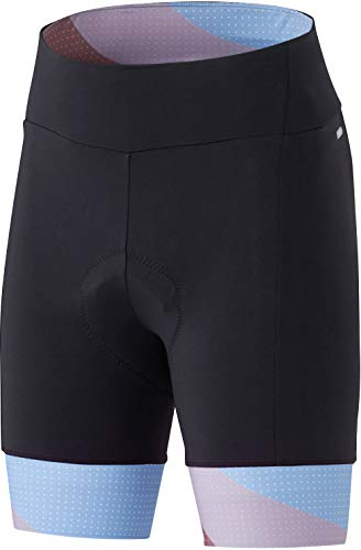 SHIMANO Sumire Shorts Dames Blauw / Oranje Maat XL 2020 Fietsbroek