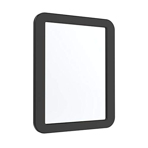 """Magnetic Locker Mirror 5 ¼"""" x 7"""", AnkeyMall Magnetic Back Sticks to Any Ferrous Metal Surface, Ideal Mirror for School Locker, Bathroom, Household Refrigerator or Office Cabinet, Black"""