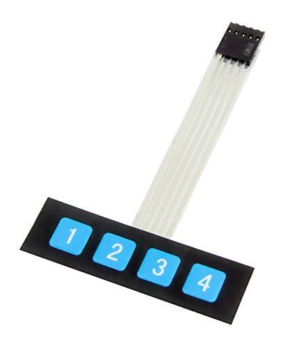 MissBirdler 4 Tasten Matrix Folientastatur Switch Keypad Membrane Switch Keyboard für Arduino Raspberry Pi