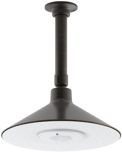 KOHLER K-99105-2BZ MOXIE 2.5 GPM Rainhead with Wireless Speaker, Oil-Rubbed Bronze