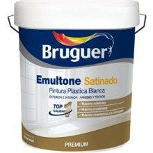 Pintura plastica Bruguer emultone blanco satinado 15 lt