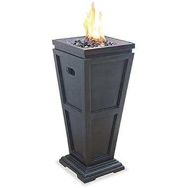 Uniflame Endless Summer, GLT1332SP, LP Gas Outdoor Fireplace, Medium