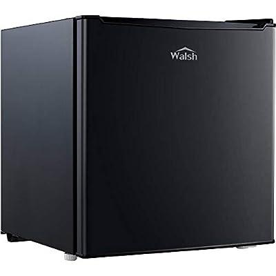 Walsh WSR17BK Compact Refrigerator, 1.7 Cu.Ft Single Door Fridge, Adjustable Mechanical Thermostat with Chiller, Reversible Doors, Black