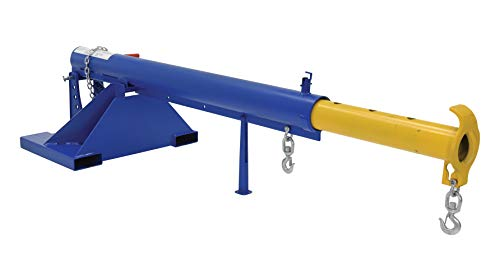 """Vestil LM-OBT-4-30 Orbit Telescoping Lift Boom, 4000 lb Capacity, 30"""" Fork Pocket Center, Overall LxWxH (in.) 38 x 86.625 x 27.6875, Overall Extended Length (in.) 146-5/8, Blue"""