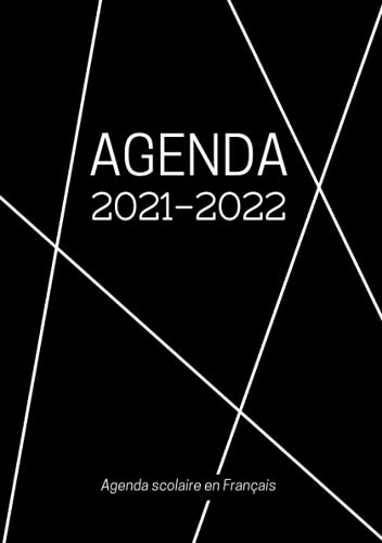 Agenda Scolaire en Français: Format A5 Agenda Journalier Quotidien Noir | Fille Garçon College Lycee Etudiant Primaire Enseignant