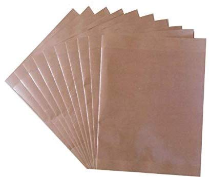 DBC Retail 20 Piece Ready-to-Use Book/Notebook Cover (Large - 34 x 26 cm, Brown)