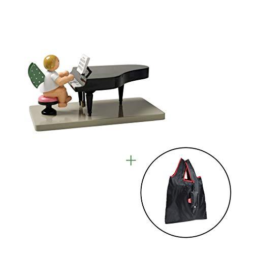 Wendt & Kühn Engel in großer Auswahl | verpackt im original Geschenkkarton | mit GRATIS EO Einkaufstasche, Orchester Engel:650_23 Engel am Flügel