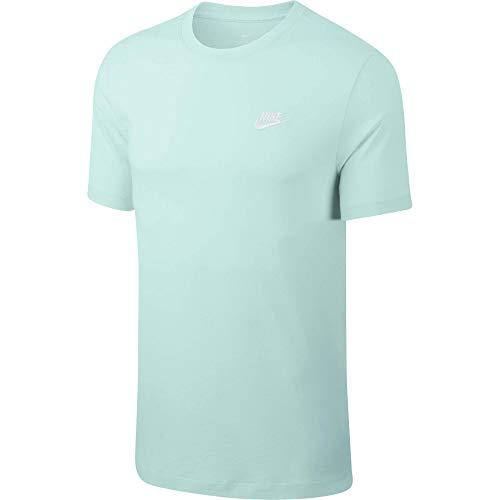 Desconocido M NSW Club Tee T-Shirt pour Homme XXL Bleu Sarcelle/Blanc (Teal Tint/White)
