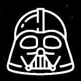 Star Wars Darth Vader Decal Vinyl Sticker|Cars Trucks Vans Walls Laptop| White |5.5 x 5.25 in|LLI285
