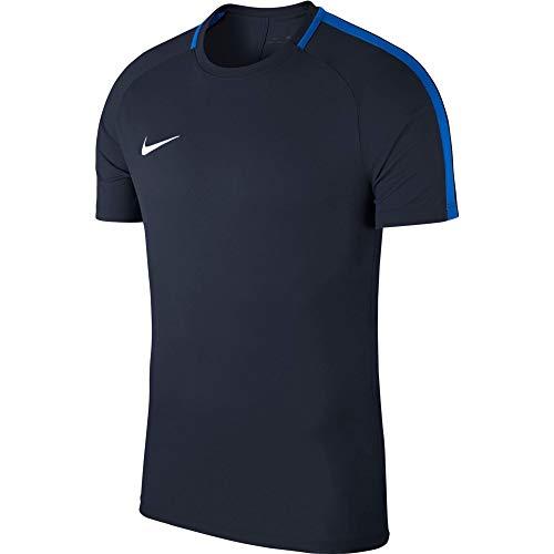 NIKE M NK Dry Acdmy18 Top SS T-Shirt, Hombre, Obsidian/Royal Blue/White, L