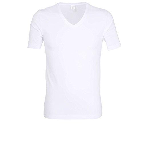 Bugatti Herren T-Shirt, Kurzarm, Baumwolle, Jersey, weiß, Uni 5