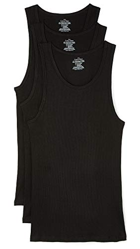 Calvin Klein Men's Cotton Classics Multipack Tanks, Black, Medium
