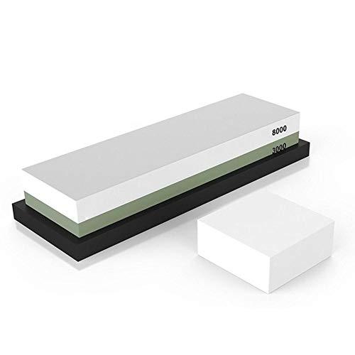 JNML 3000/8000 Whetstone-messenslijper Waterstone met antislip-slijpsteen 2 zijgrit, groen, M