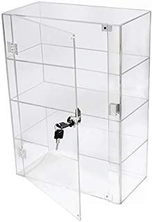 PC3721® 1 Vitrina de 3 estantes de acrílico Transparente
