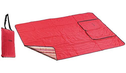 PEARL Picnic Decke: 3in1-Picknickdecke mit Sitzkissen und Zudecke, waschbar, 180 x 150 cm (Picknickdecke mit Kissen)