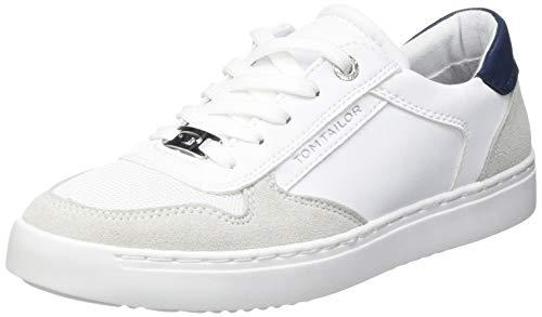 TOM TAILOR Damen 1193206 Sneaker, Weiß, 38 EU