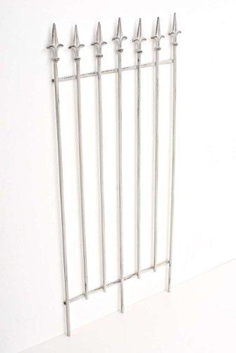 CLP Metall-Rankgitter Elisa I Größe: 100 x 50 cm, Stabstärke 0,7 cm I Rankhilfe für Kletterpflanzen I erhältlich, Farbe:antik weiß