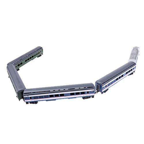 MagiDeal Escala 1:87 HO Modelo de Tren de Simulación Locomotora Juguetes para Niños - E