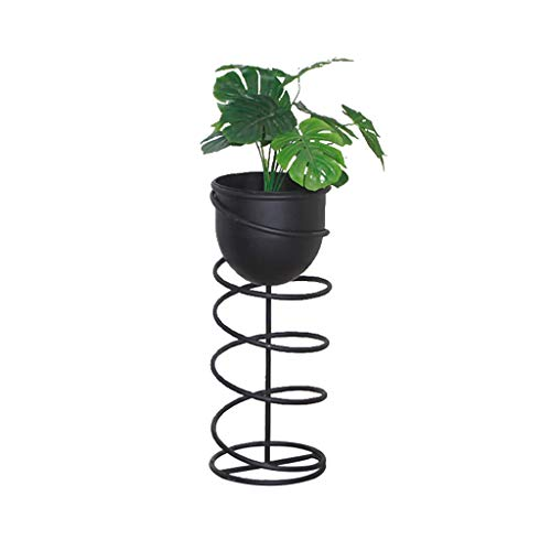 GXFWJD Flower stands ladder Metal Flower Stand Baking Paint Indoor Modern for Living Room Window Balcony Patio Decorative (Color : Black, Size : 70x30cm)