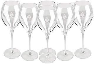 Armand de Brignac Champagnerglas Flute Flöte 6 Gläser 28,5cl mit weissem Logo