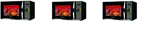 Emerson 1.2 CU. FT. 1100W Griller Microwave Oven with Touch Control, Stainless Steel, MWG9115SB (Thrее Расk, Black & Stainless Steel)