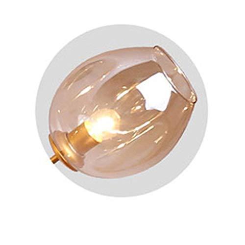 Lámpara colgante Cristal Luz pendiente moderna originalidad dormitorio lámpara colgante Simplicidad Personalidad restaurante accesorios de iluminación Candelabro ( Body Color : Cognac , Size : Bulb )