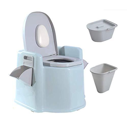 Pratica, Comoda Toilette da Campeggio, Toilette Portatile con Cestino Lavabile e Porta Carta igienica, con Piattaforma per Cellulare/Porta Carta igienica, 200 kg (Colore: 1 barile Cavo) TDF