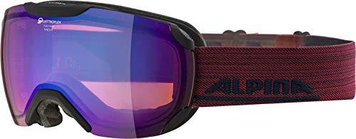 ALPINA Unisex - Erwachsene, PHEOS S QMM Skibrille, black matt, One size
