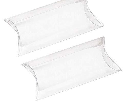 ROSENICE Scatole portaconfetti a forma di cuscino trasparente in plastica per regalo caramelle e favore 50PCS