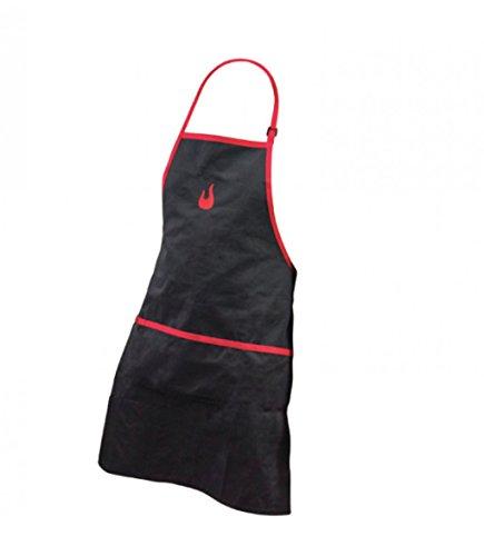 Char-Broil 140 517 - Grillschürze mit Taschen, Schwarz und Rot.
