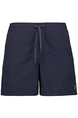 JP 1880 Badeshort 1/2 Uni Bañadores Ajustados para Hombre, Azul Oscuro, 8XL