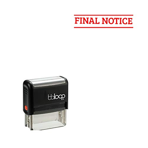 Final Notice' Self-Inking Office Stamp, Rectangular Sport Lettering