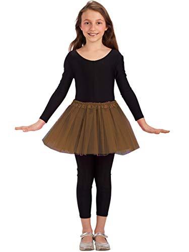 Tule rok voor meisje - klassieke dans - rok - meisje - 3 lagen - tutu - 2/7 jaar - ballet - kostuum - vermomming - carnaval - cadeau-idee - kerstmis - bruine kleur