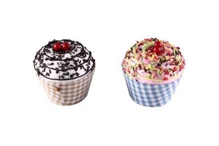 DISOK - Cajita En Forma De Tarrina De Helado Cupcake (Precio Unitario) - Cajas Bodas - Cajitas, Cajas Baratas para Detalles, Recuerdos y Regalos Cupcake Bautizos y Comuniones